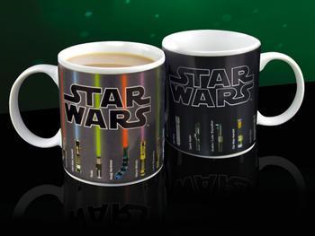 Lichtschwert Tasse mit Farbwechseleffekt