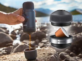 Tragbares Espresso-Set Nanopresso NS
