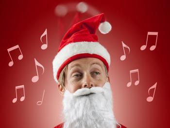 Singende Und Tanzende Weihnachtsmütze