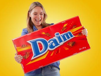 Gigantische Daim-Schokolade