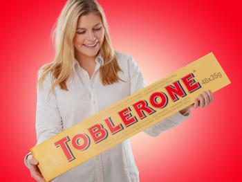 Gigantische Toblerone-Schokolade