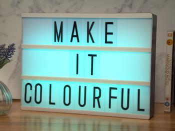 Lichtbox mit Farbwechsel
