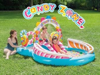 Intex Candy Zone Planschbecken mit Rutsche