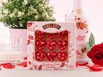 Baileys Strawberries & Cream Schokoladenherzen