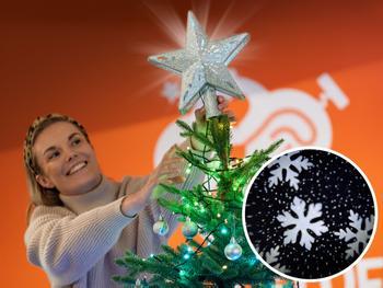 Spralla Weihnachtsbaumspitze Stern mit Projektor