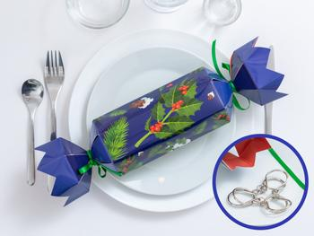 Christmas Crackers mit Metallpuzzle 4er-Pack