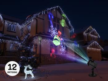Spralla Weihnachtsprojektor bewegtes Lichtspiel
