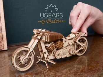 Ugears 3D Puzzle Motorrad Bike VM-02