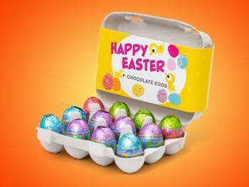 Ostereier im Eierkarton