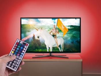 TV-Hintergrundbeleuchtung LED mit Fernbedienung