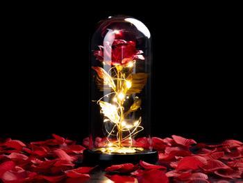 Spralla® Verzauberte Rose Lampe