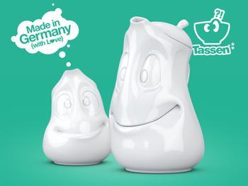 Tassen Kanne mit Gesicht