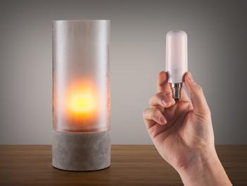 Flammende LED-Birne