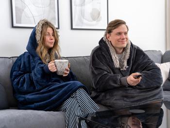Hoodie Decke mit Kapuze