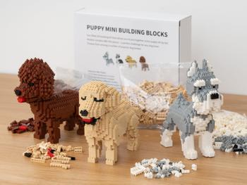Hundewelpe Mini 3D-Bausatz