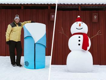 Schneeskulptursack