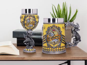 Harry Potter Bierseidel und Weinglas - Hufflepuff